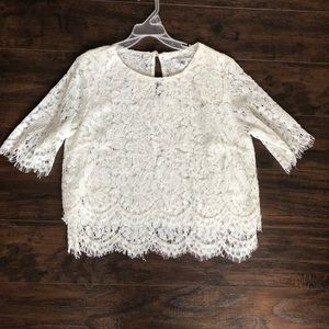 Lace crop top size M